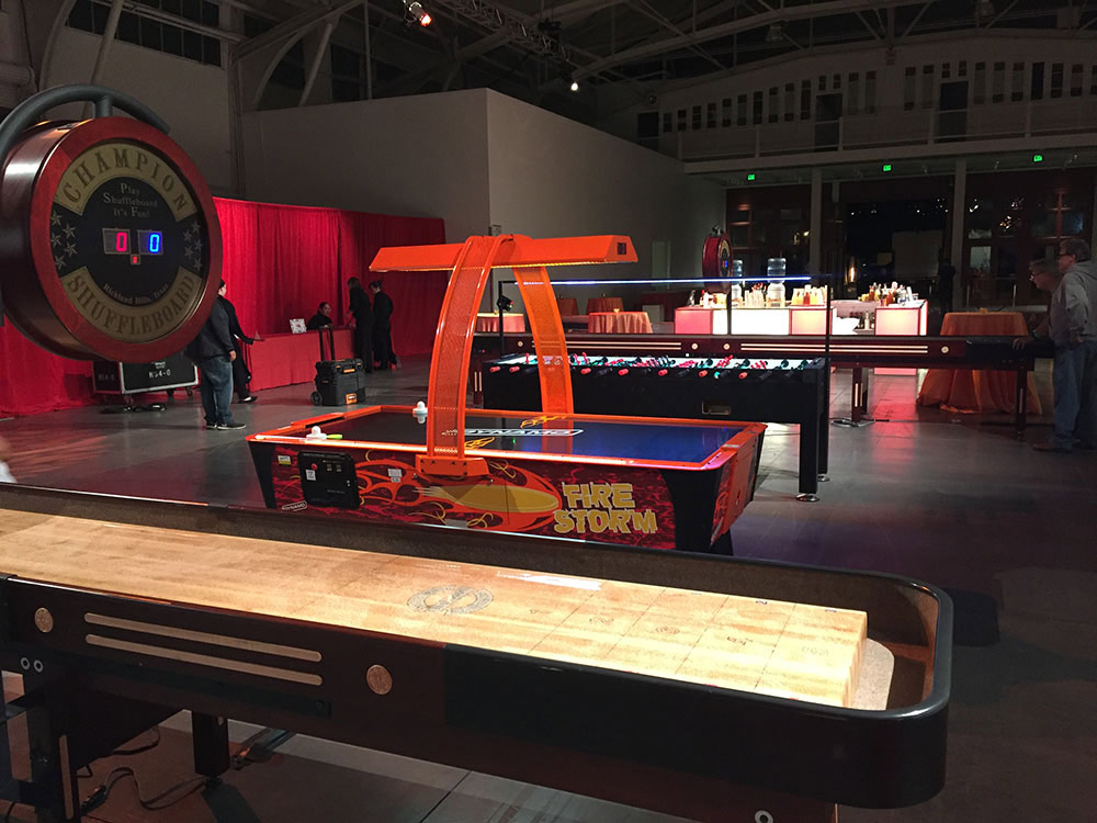 Shuffle Board Table Arcade Party Rental Large Size Adult