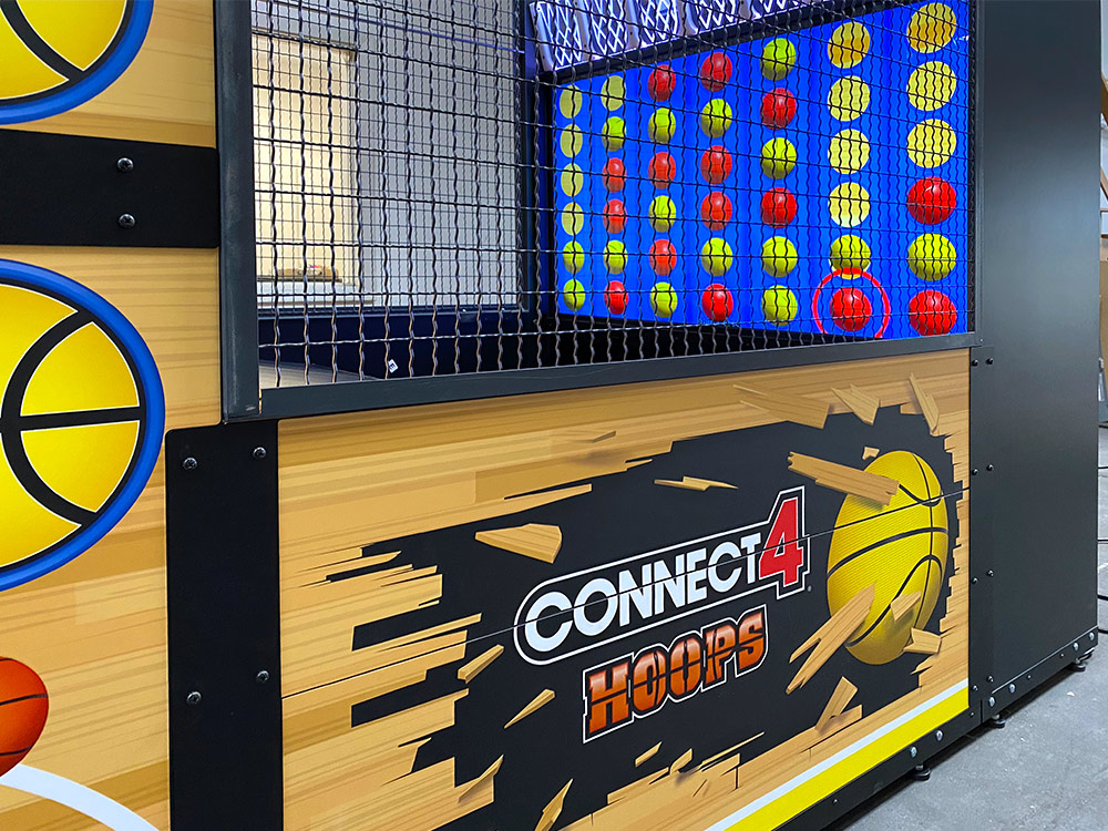 Giant Connect 4 Hoops Arcade Game Arcade Party Rental