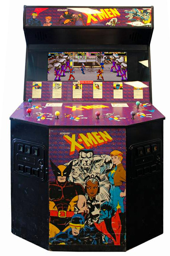 X-Men 4 & 6 Player Video Arcade Game - Classic 90s Arcade Party Rental
